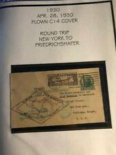 #C14 $1.30 ZEPP ON  FLOWN COVER  NICE LOOK    (J447C)