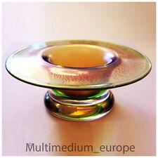 kleine Eisch Glas Schale gold grünfarben irisierend Kunstglas