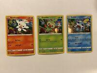 Grookey Scorbunny & Sobble SWSH070 SWSH071 & SWSH073 Promo Set Pokemon Holo