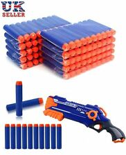 100 Pcs SOFT REFILL BULLETS DARTS ROUND HEAD BLASTERS FOR NERF N-STRIKE TOY UK