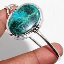 Adjustable Bangle Jewelry Gift Gw Chrysocolla 925 Sterling Silver Plated