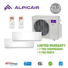 AlpicAir +Multi Dual-Zone Ductless Mini-Split Heat Pump 18,000 BTU (9k+9k)