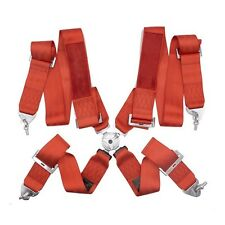 Red 4 Point racing Harness - FIA 2020 4 Point Harness 4 Point Lock Takata Logo