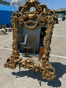 Mirror in Carved Gilded Wood Frame