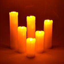 6PC LED Sin Llama Parpadeante Velas Cera Goteo Efecto estado de ánimo con baterías 41282C