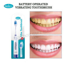 Oral  Advance Power vibrating Toothbrush  extra Toothbrush heads battery powered