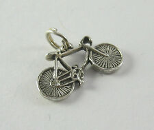 Bike Charm Pendant .925 Sterling Silver Sports USA Made Bicycle Wheels Racing