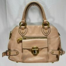 Marc by Marc Jacobs Women's HandBag Purse Nude Pink Gold Tone Hardware Zip Up