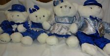 Walmart Snowflake Vintage Blue Bears 2003 & 2004-Four for Christmas or Chanukah