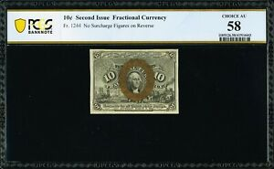 FR 1244 - 10 CENT SECOND ISSUE FRACTIONAL - TABACCO FAMILY COLLECTION - PCGS 58