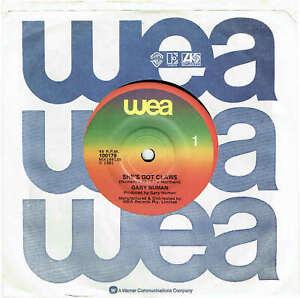 """GARY NUMAN - SHE'S GOT CLAWS - 7"""" 45 VINYL RECORD - 1981"""