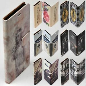 For HTC Series - 1930s Lifestyle Theme Print Wallet Mobile Phone Case Cover