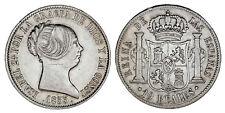 10 SILVER REALES / PLATA. ISABELLA II - ISABEL II. MADRID 1853. XF/EBC. BONITA