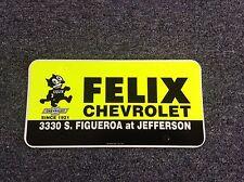 Felix Chevrolet Dealer License Plate Insert, Classic, Hot Rod, Rat Rod, Lowrider