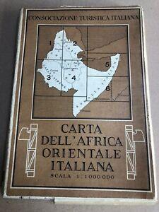 t) Carta dell'Africa Orientale Italiana AOI colonie