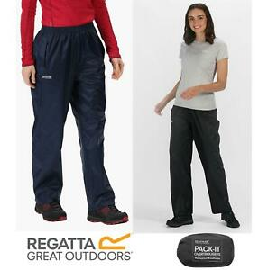 Regatta Womens Waterproof Breathable Pack-It Overtrousers Packable Rain Trousers