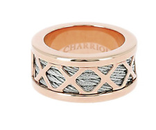 Charriol Ring Rose Gold Silver Forever Cable Band NEW