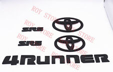 2014-2019 TOYOTA 4RUNNER SR5 MATTE BLACK OUT EMBLEM KIT REPLACEMENT