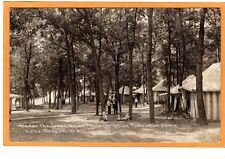 Childs Real Photo Postcard RPPC - Under the Trees YMCA Camp Lake Geneva WI