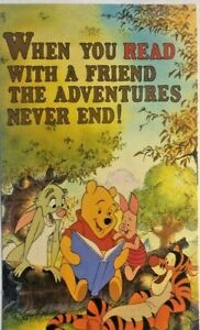 Winnie The Pooh READ poster from Authentic ALA Disney poster Tigger Piglet