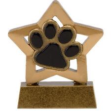 PET DOG PAW PRINT PUPPY DOG SHOW CRUFTS TROPHY ENGRAVED FREE MINI STAR AWARD