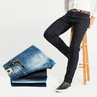 W30 Robelli Men/'s Dark Navy Blue Deluxe Cotton Blend Stretchy Skinny Fit Jeans