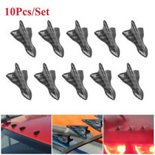10Pcs Shark Fin Wing Vortex Generator Diffuser Rear Roof Wing Spoiler fit Ford