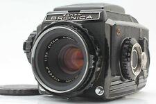 [Exc+5] Zenza Bronica S2 Black Late Model + Nikkor P 75mm f/2.8 Lens from JAPAN