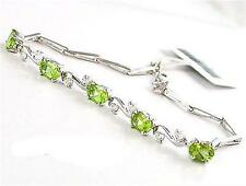 Special Occasion 2ct Genuine Peridot Bracelet Solid 925 Silver Gift Fashion