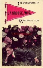 """pennant """"I'M Lonesome In """"La Grosse, Wis. (La Crosse? sp*) Without You"""""""