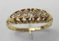 Antique Victorian 18ct Gold Five Stone Old Cut Diamond Carats Ring Size O