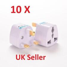 10 x New Universal Travel Adapter AU US EU to UK 3 Pin Power Plug Adaptor