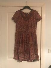 Wrap London 100% Cotton Autumn Dress Size 12 Folk Festival Boho