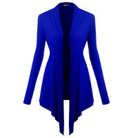 Women Long Sleeve Knitted Cardigan Loose Casual Sweater Outwear Jacket Coat QP