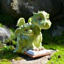 Mama Dragon & Baby Fairy cottage Home Garden Craft Décor