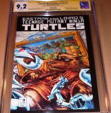TMNT #3 2nd print CGC SS SIGNED Eastman Teenage Mutant Ninja Turtles Mirage 1988