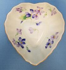 TOYO Spring Violet Porcelain Trinket Vanity Jewelry Heart Plate by Magie