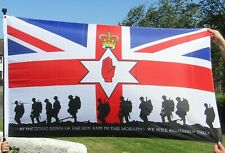 More details for union ulster flag 5x3ft loyalist remember their sacrifice somme 1st july tommys