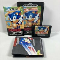 Sonic the Hedgehog Not for Resale Sega Genesis CIB Complete in Box - Tested