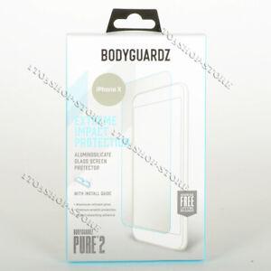 BodyGuardz Pure 2 iPhone X & iPhone Xs Clear ScreenGuardz Glass Screen Protector