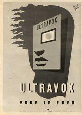 19/9/81PN30 POSTER ADVERT 15X11 ULTRAVOX : RAGE IN EDEN