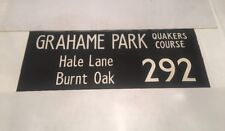 "London Linen Bus Blind Jan78 36"" 292 Grahame Park Quakers Hale Lane Burnt Oak"