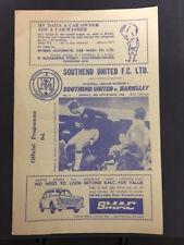 30/09/1966, Southend United v Barnsley, Div 4