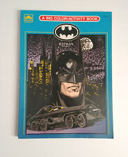 Batman Returns Golden Book A Big Color/Activity Book Vintage 1992 HTF