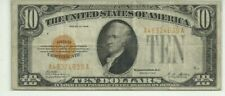 "1928  $10.00  GOLD CERTIFICATE  ""SMALL SIZE""  CIRCULATED  NICE LOOKING NOTE!!!"