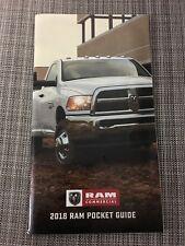 2018 DODGE RAM COMMERCIAL POCKET GUIDE 60-page Original Sales Brochure