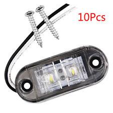 10Pcs 2 LED 12V / 24V Vehicles Truck Lorry Side Marker Turn Lamp Lights-White