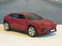 LAMBORGHINI URUS RED 1.38 DIECAST MODEL CAR PERSONALISED PLATES NEW BOYS TOYS