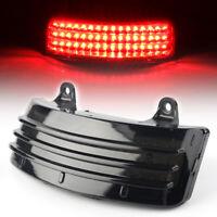 Smoke Tri-Bar LED Rear Tail Light Fender Tip Light Fits Harley Road Street Glide