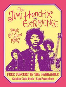 Sixties - The Jimi Hendrix Experience - Concert poster reprint (1967)